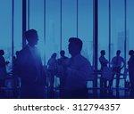 silhouette business corporate... | Shutterstock . vector #312794357