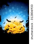 halloween background with... | Shutterstock . vector #312806933