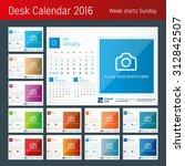 desk calendar 2016. vector... | Shutterstock .eps vector #312842507