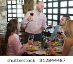 positive young people enjoying... | Shutterstock . vector #312844487