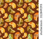 vector seamless pattern  fallen ... | Shutterstock .eps vector #312849293
