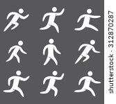 silhouettes figures set of... | Shutterstock . vector #312870287