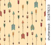 bohemian hand drawn arrows ... | Shutterstock .eps vector #312878213