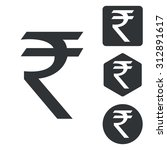 indian rupee icon set ...