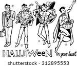 halloween super hero | Shutterstock .eps vector #312895553