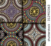 vector seamless pattern set...   Shutterstock .eps vector #312902363