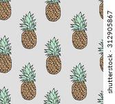 pattern of pineapples | Shutterstock .eps vector #312905867