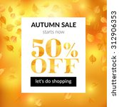 autumn sale background with... | Shutterstock .eps vector #312906353
