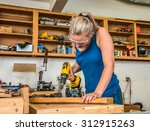 Female Young Adult Woodworker...