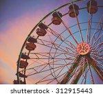 a fair ride shot with a long... | Shutterstock . vector #312915443