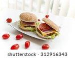 homemade burgers | Shutterstock . vector #312916343