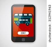 transportation bus flat icon... | Shutterstock .eps vector #312941963