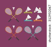 badminton illustration  award ... | Shutterstock .eps vector #312952067