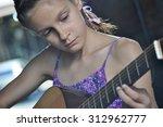 beautiful young teenage girl... | Shutterstock . vector #312962777