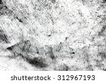 grunge black and white distress ... | Shutterstock . vector #312967193