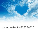 "sky  clouds  forming a ""heart""... 