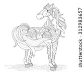 Lovely Horse Coloring Page In...