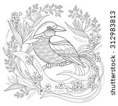 Graceful Bird Coloring Page In...