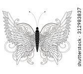 Elegant Butterfly Coloring Pag...