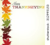 maple leaf thanksgiving card in ... | Shutterstock .eps vector #312995153