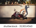 cheerful young man in...   Shutterstock . vector #313014563