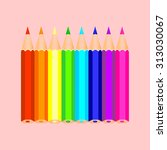 set of colorful pencils | Shutterstock .eps vector #313030067