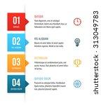 nice vector numbered list... | Shutterstock .eps vector #313049783