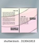 vector brochure template design ... | Shutterstock .eps vector #313061813