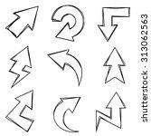 sketch arrows | Shutterstock .eps vector #313062563