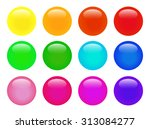 set of colorful isolated glossy ... | Shutterstock .eps vector #313084277