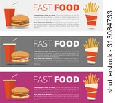 fast food banners | Shutterstock .eps vector #313084733