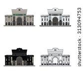 istanbul university in beyazit...   Shutterstock .eps vector #313094753