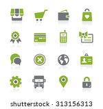 online store icons    natura... | Shutterstock .eps vector #313156313