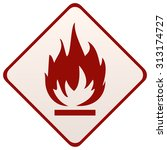 fire sign on a diamond shape... | Shutterstock .eps vector #313174727