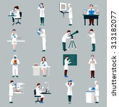 scientists characters set with... | Shutterstock . vector #313182077