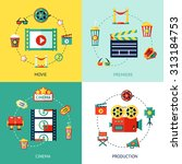 cinema production flat design... | Shutterstock . vector #313184753
