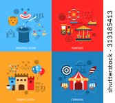 amusements park flat icons set... | Shutterstock . vector #313185413
