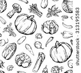 seamless pattern with different ... | Shutterstock .eps vector #313195583