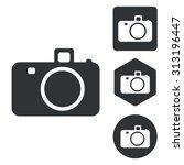 camera icon set  monochrome ...