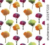 watercolor tree. collection of... | Shutterstock . vector #313197233