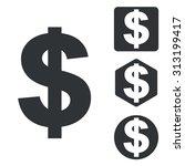 dollar icon set  monochrome ...