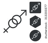 gender symbols icon set ...