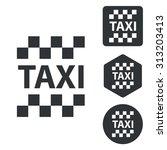 taxi icon set  monochrome ...