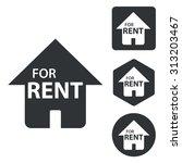rental house icon set ...