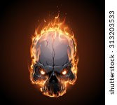 skull in fire | Shutterstock .eps vector #313203533