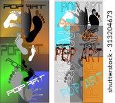 pop art abstract background.... | Shutterstock .eps vector #313204673