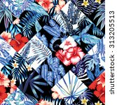 print fashion tropic jungle... | Shutterstock .eps vector #313205513