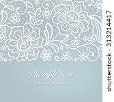 template frame  design for card.... | Shutterstock .eps vector #313214417