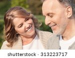 cheerful old husband and wife... | Shutterstock . vector #313223717
