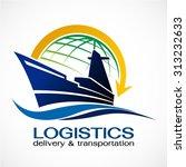 ocean ship and globe logo...